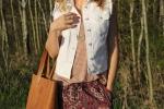 style me montana, melissa richardson, the village shop, whitefish montana, frye bag, olive and oak pants, AG denim vest, ray-bans, hope kauffman photography